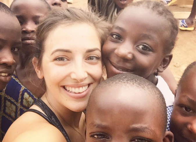 Renne with The Africa Project kids - Light Space Yoga